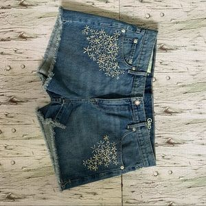 GAP High Rise Girlfriend Jean Short, Women's sz 31